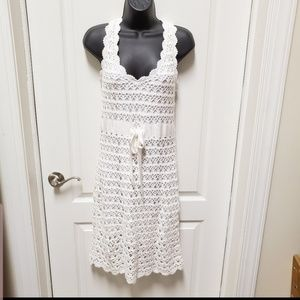 crochet white dress new with tag